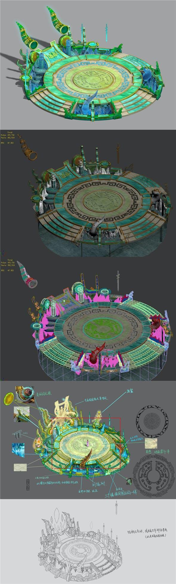 City Center - Contest Arena - 3DOcean Item for Sale