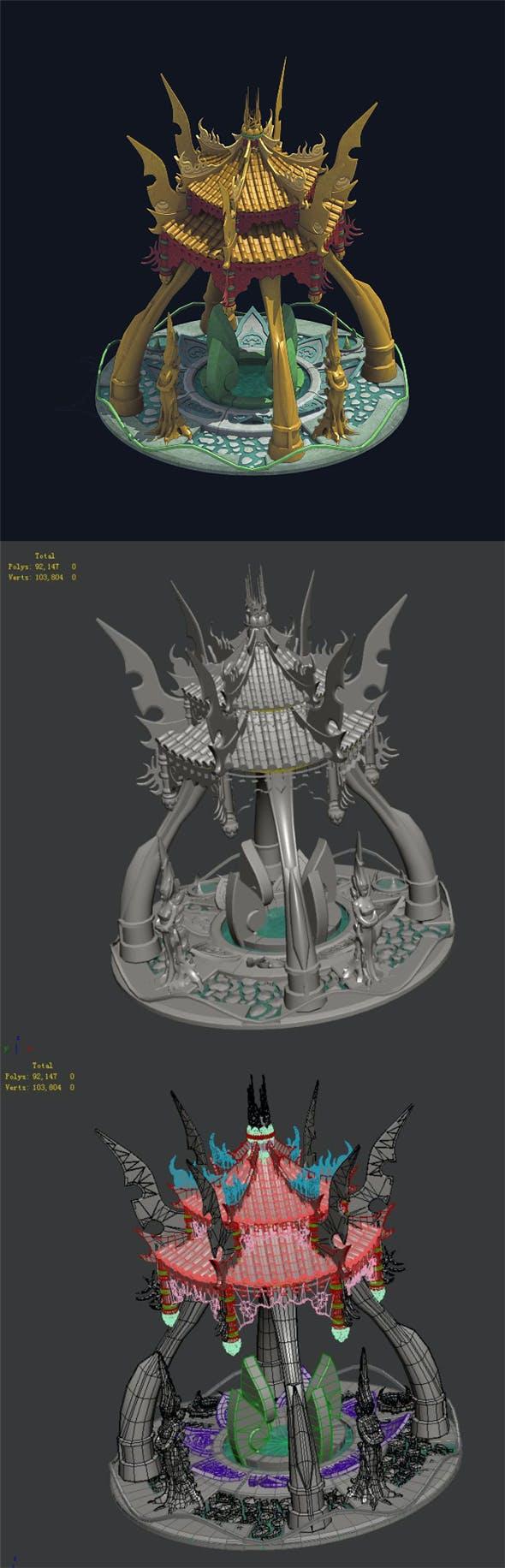 City Center Decoration - Fortune Spring 02 - 3DOcean Item for Sale