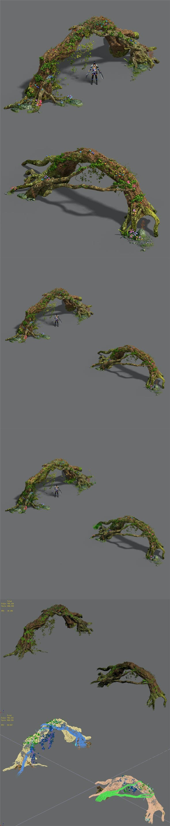 Western Sichuan River - Tree Arch - 3DOcean Item for Sale