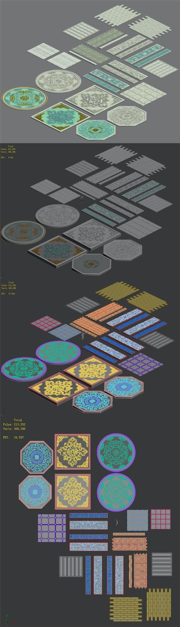 Large city - parquet - 3DOcean Item for Sale