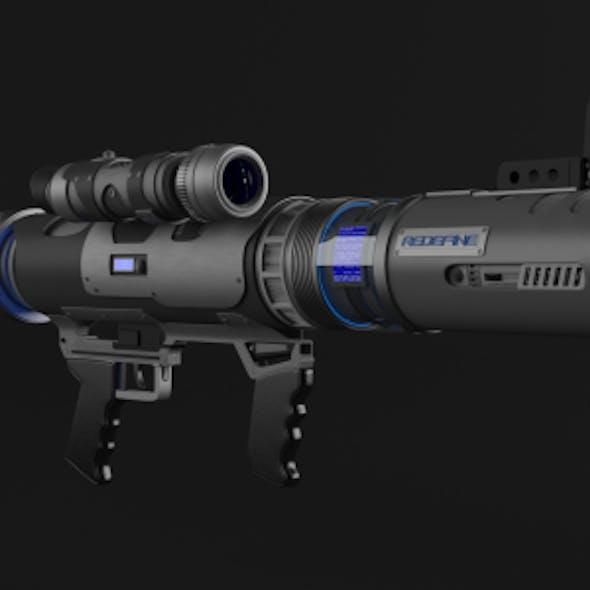 Realistic Futuristic Bazooka Rocket Missile Launcher