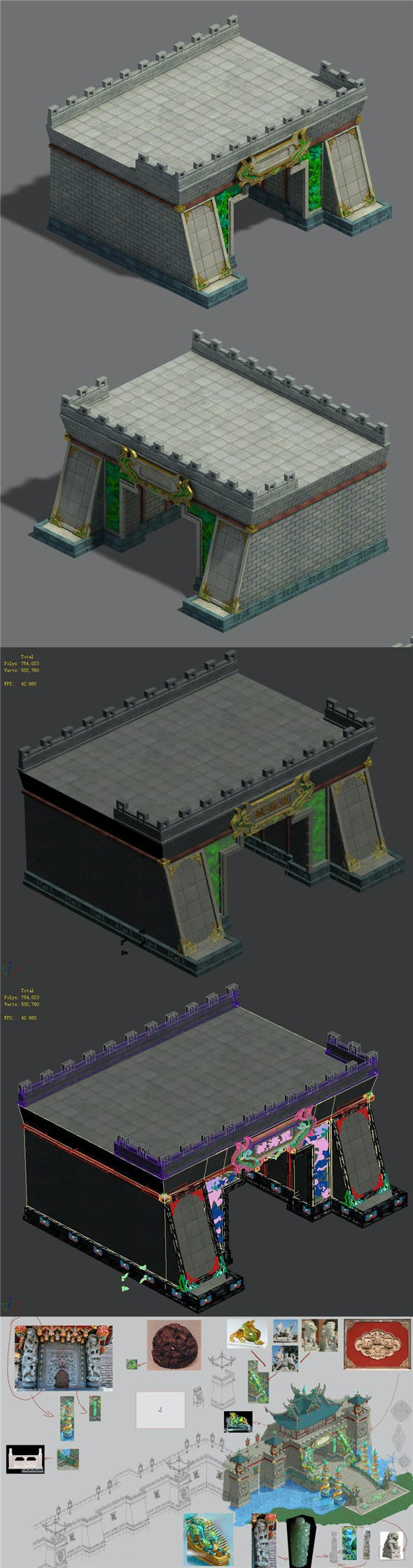 Large City - City Gate - 3DOcean Item for Sale