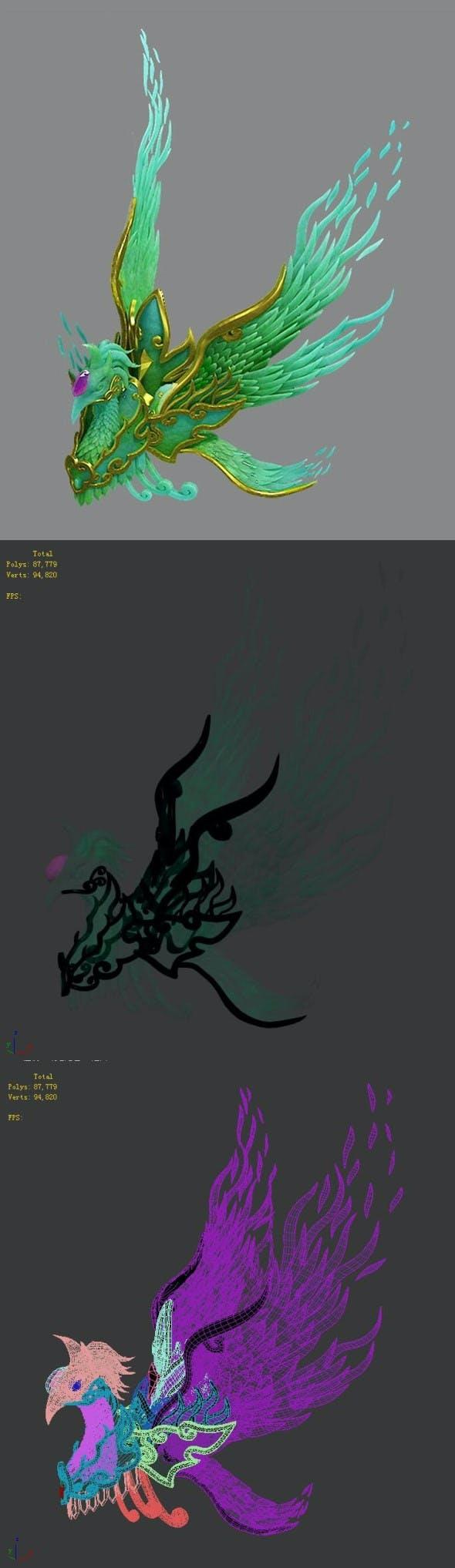 Taoism - Phoenix - 3DOcean Item for Sale