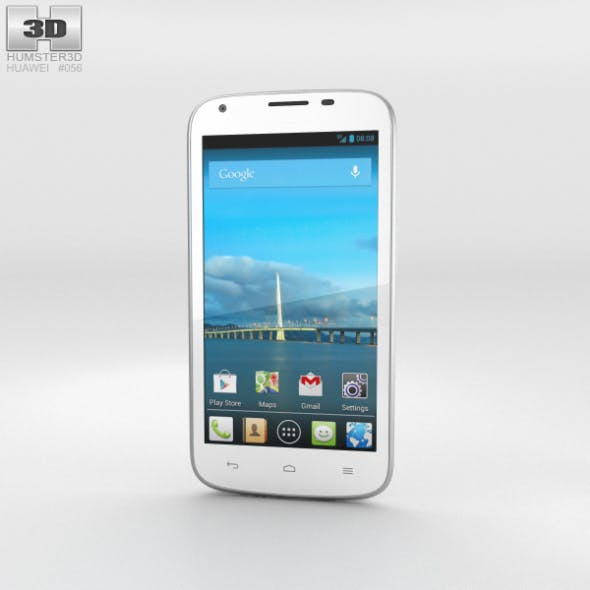 Huawei Ascend Y600 White - 3DOcean Item for Sale