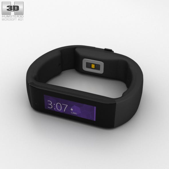 Microsoft Band Black - 3DOcean Item for Sale