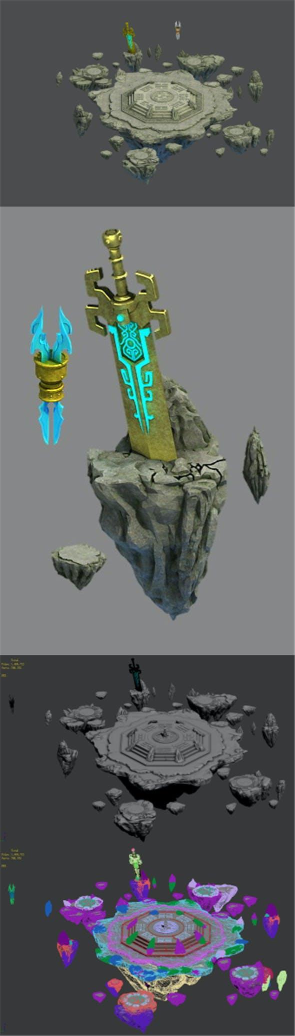 Taoism - altar - 3DOcean Item for Sale