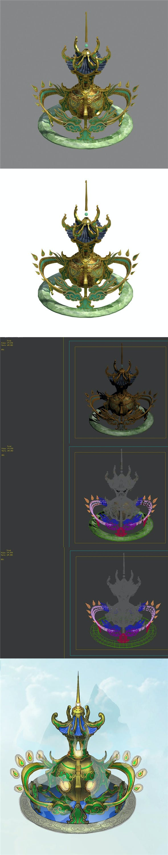 Road religion - incense burner - 3DOcean Item for Sale