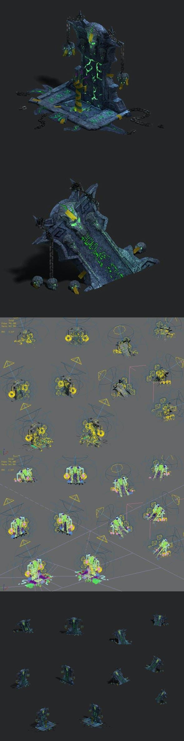 Underground city - tombstone - 3DOcean Item for Sale