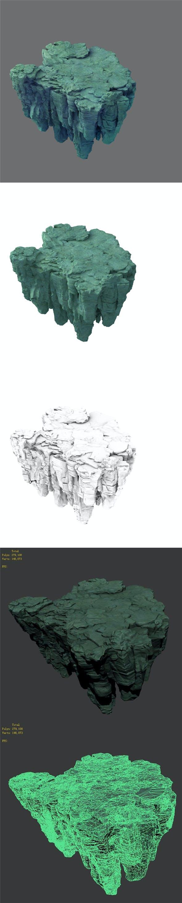 Terrain - Stone 04 - 3DOcean Item for Sale