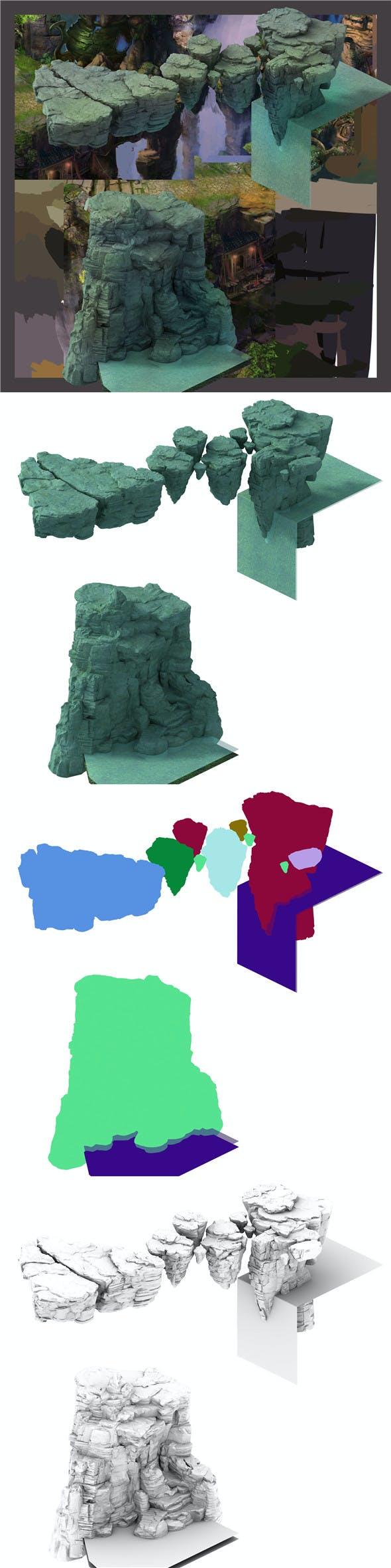 Terrain - Stone 06 - 3DOcean Item for Sale