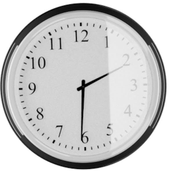 Large Wall Clock with glass front IKEA Style