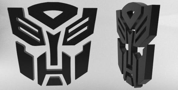 Transformers Autobots 3D Logo - 3DOcean Item for Sale