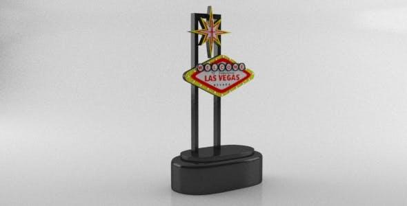 Las Vegas Welcome Sign Souvenir - 3DOcean Item for Sale