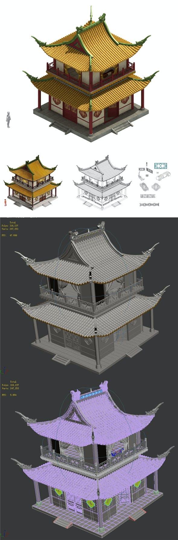 Palace-2 loft - 3DOcean Item for Sale