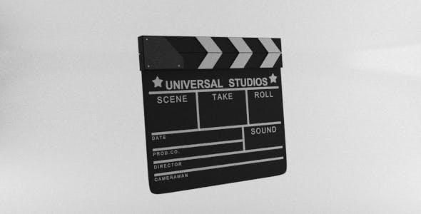 Movie Film Clapper Board Film Slate - 3DOcean Item for Sale