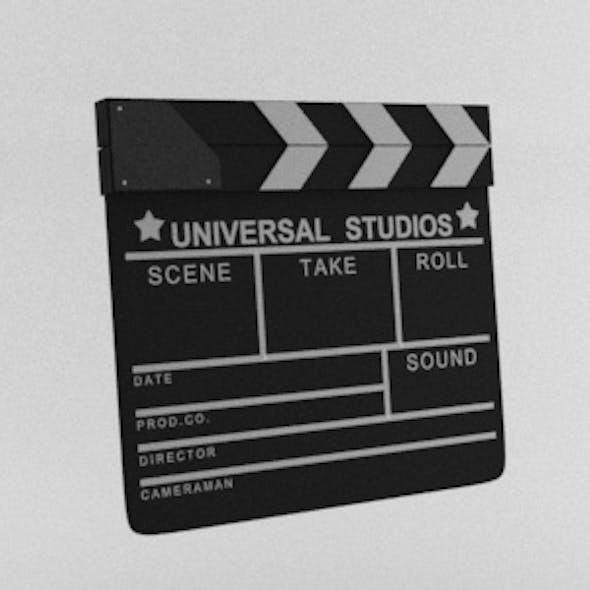 Movie Film Clapper Board Film Slate