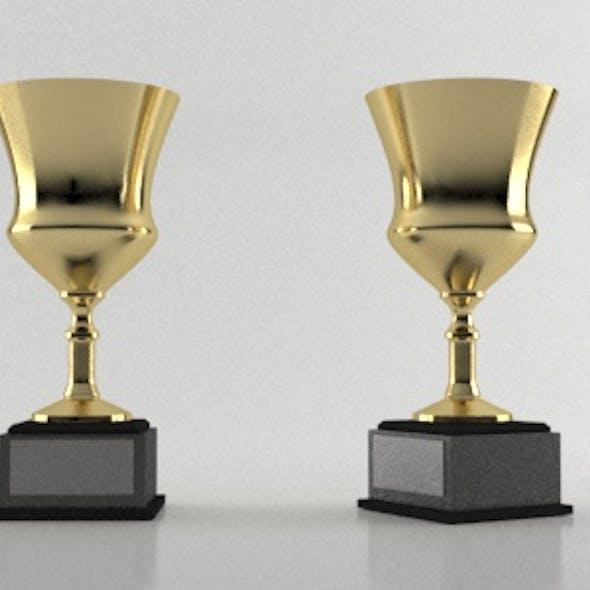 Golden Goblet Award Trophy