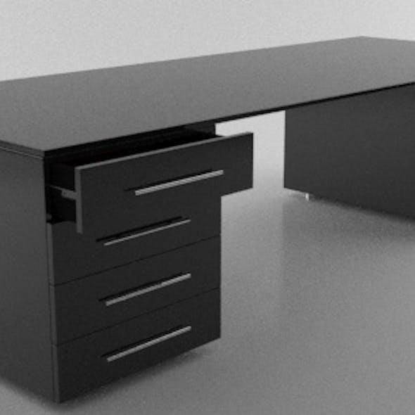 Modern Black Shiny Desk