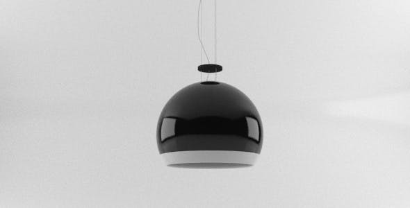 Luxury Designer Black Shiny Light Fixture - 3DOcean Item for Sale