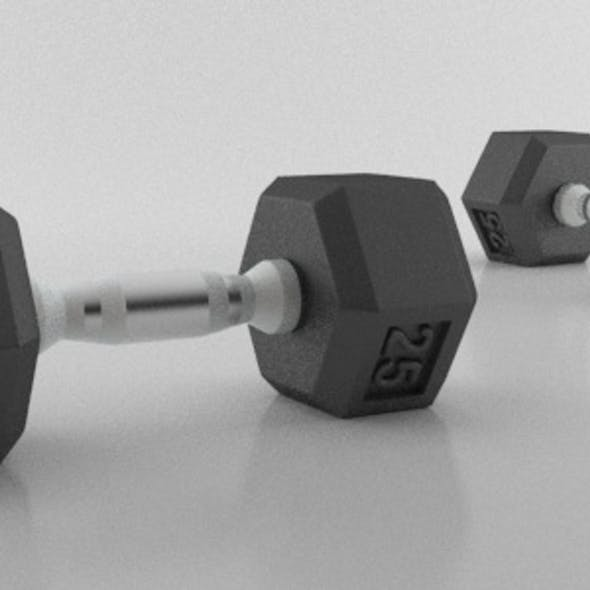 Realistic Dumbbell Fitness Workout Weights