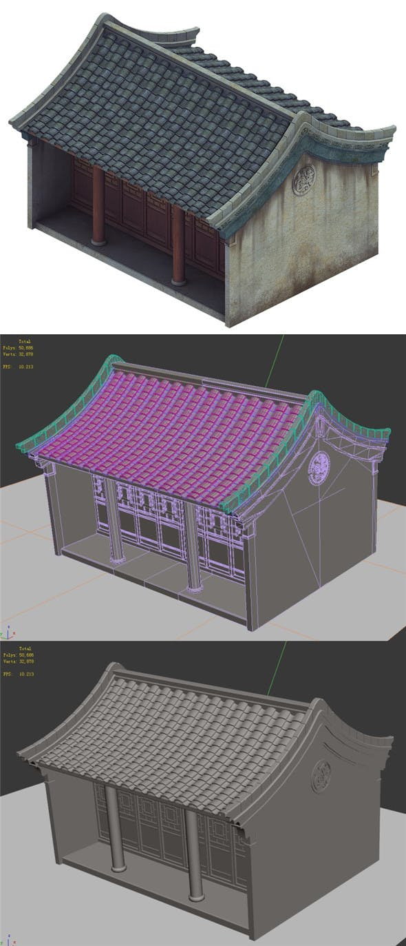 Heyang City - House 02 - 3DOcean Item for Sale