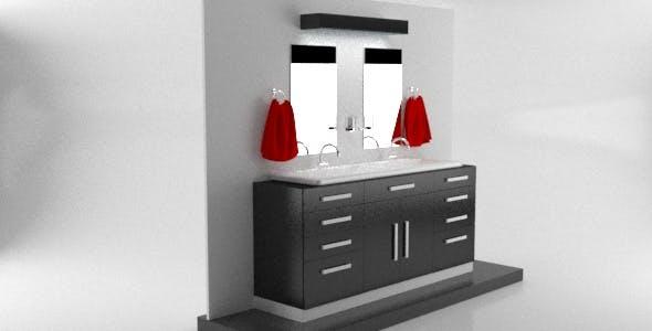 Modern Realistic Bathroom Set - 3DOcean Item for Sale