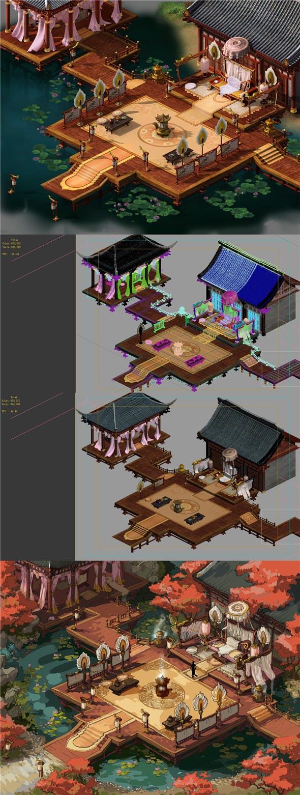 Fox Xiange - water loft - 3DOcean Item for Sale