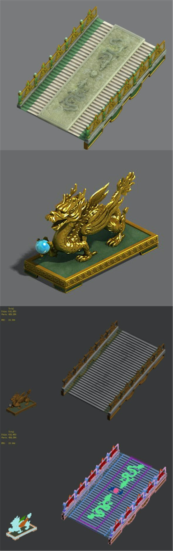 Imperial - stairs - guardian stone - 3DOcean Item for Sale
