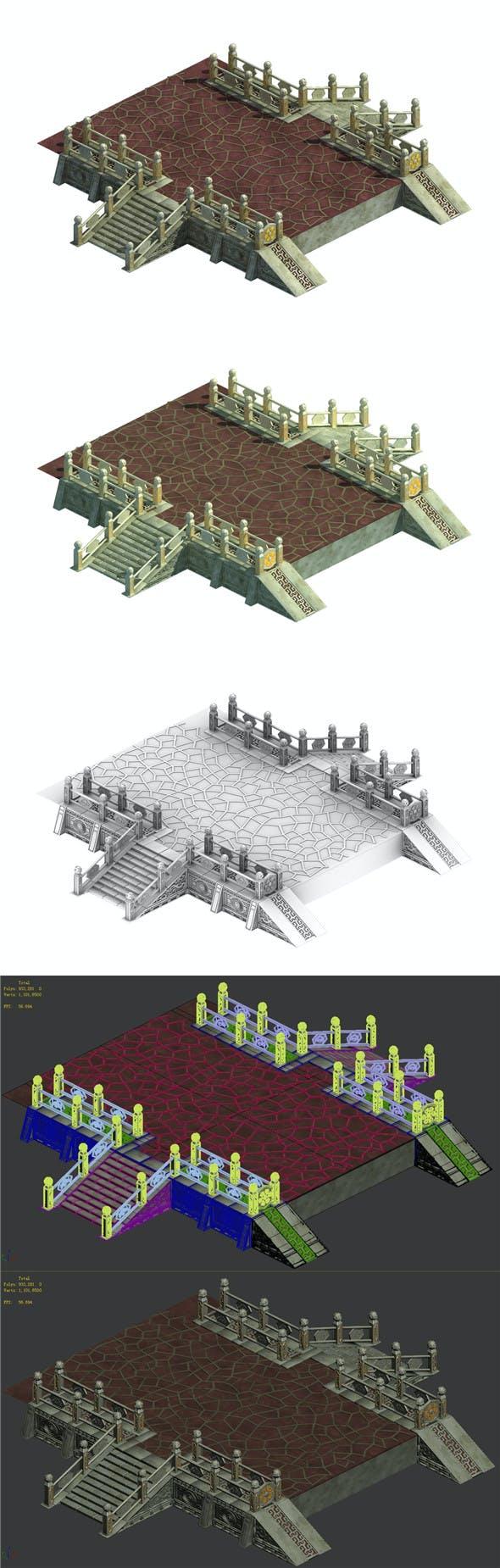 Palace - corridor aisle - 3DOcean Item for Sale