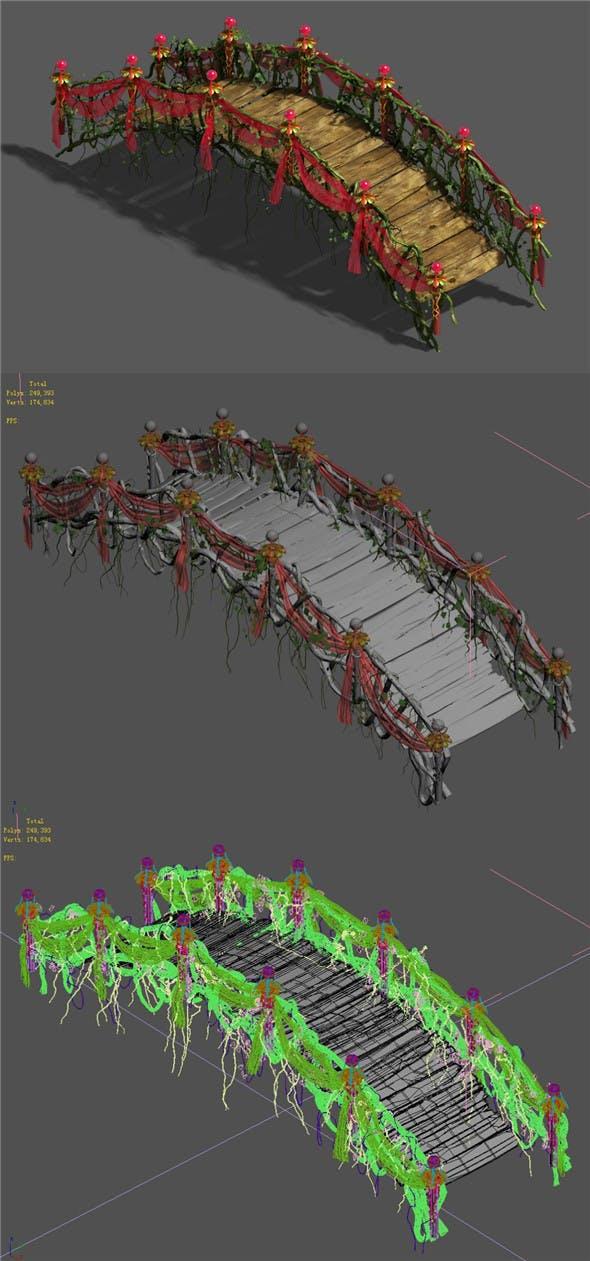 Wedding - wooden bridge - 3DOcean Item for Sale
