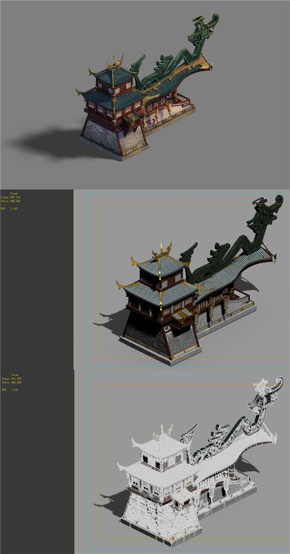 Building - City Main Wall - 3DOcean Item for Sale