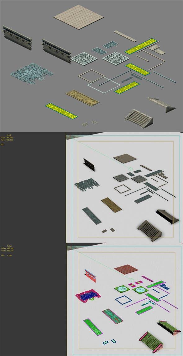 Building floor - components - 3DOcean Item for Sale