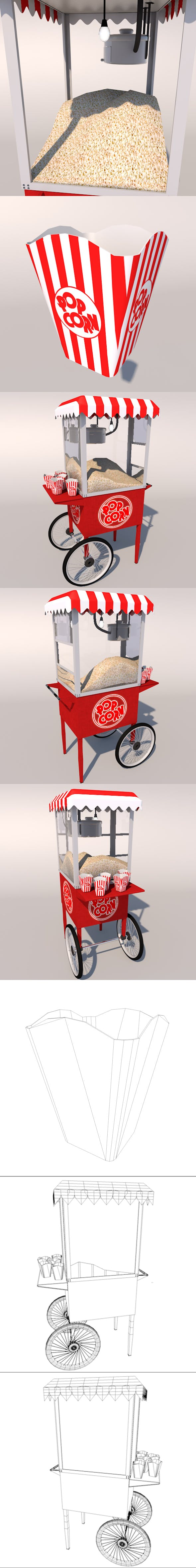 Popcorn Wagon ( Full Edition ) - 3DOcean Item for Sale