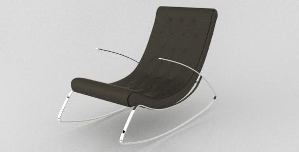 Realistic Modern Designer Rocking Chair with vray materials - 3DOcean Item for Sale