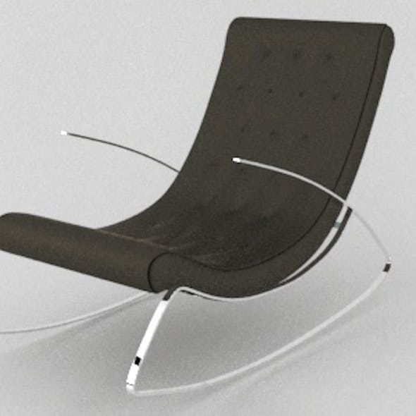 Realistic Modern Designer Rocking Chair with vray materials