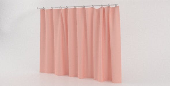 Realistic Cloth Curtain - 3DOcean Item for Sale