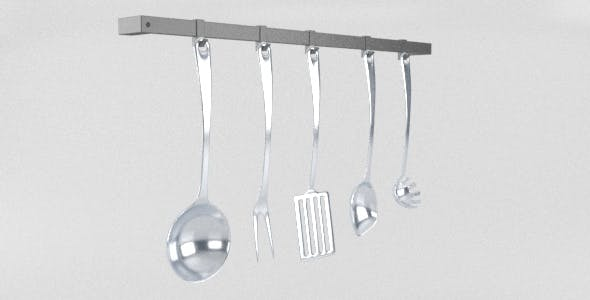 A Set of 5 Kitchen Cooking Tools Appliances - 3DOcean Item for Sale