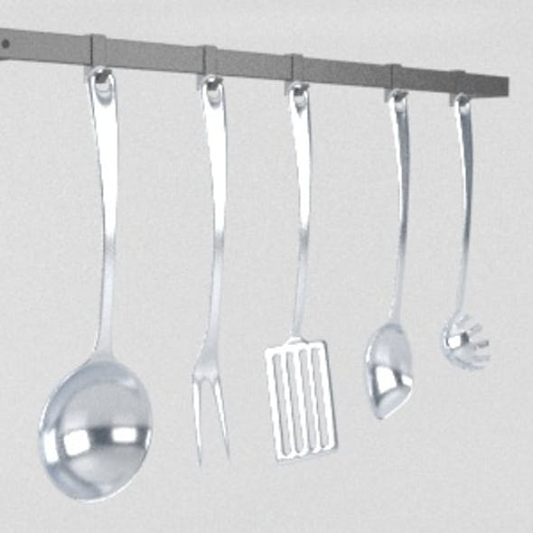 A Set of 5 Kitchen Cooking Tools Appliances
