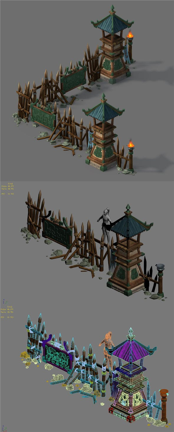 Barracks - Tower - 3DOcean Item for Sale