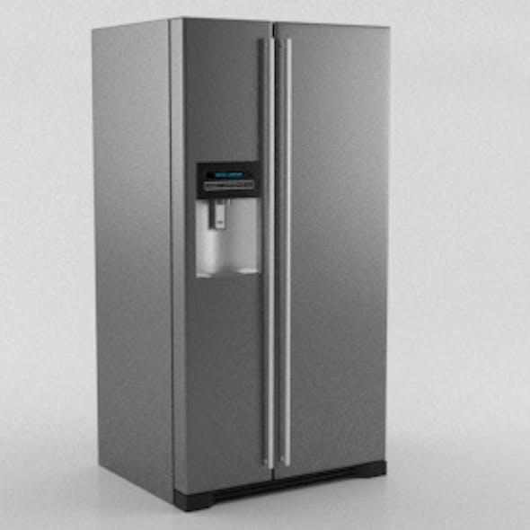 American Style Realistic Refridgerator Metallic Finish