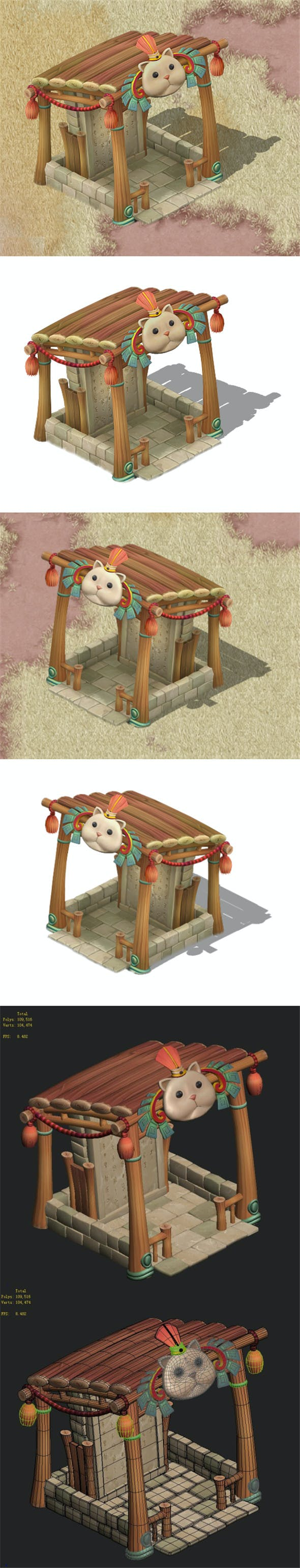 Cartoon version - Beiting - shelter - 3DOcean Item for Sale