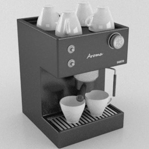 Modern Realistic Coffee Espresso Machine