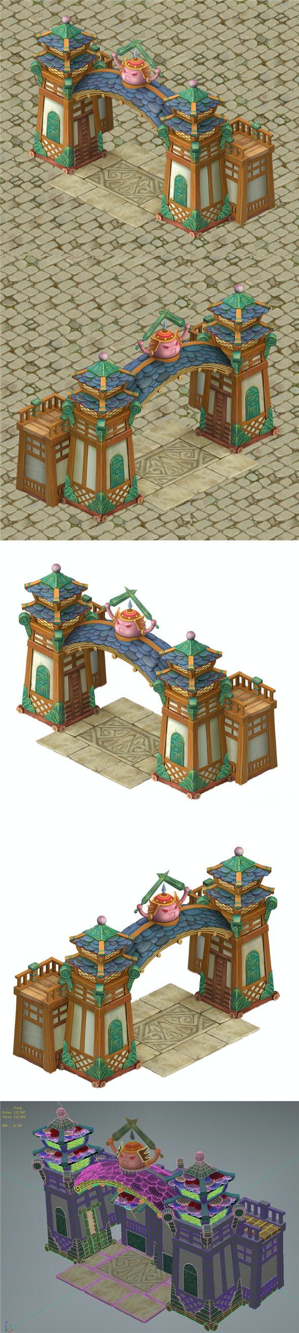 Cartoon version - city gate - wall - 3DOcean Item for Sale