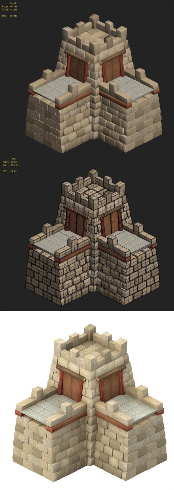 Cartoon Edition - Wall 03 - 3DOcean Item for Sale