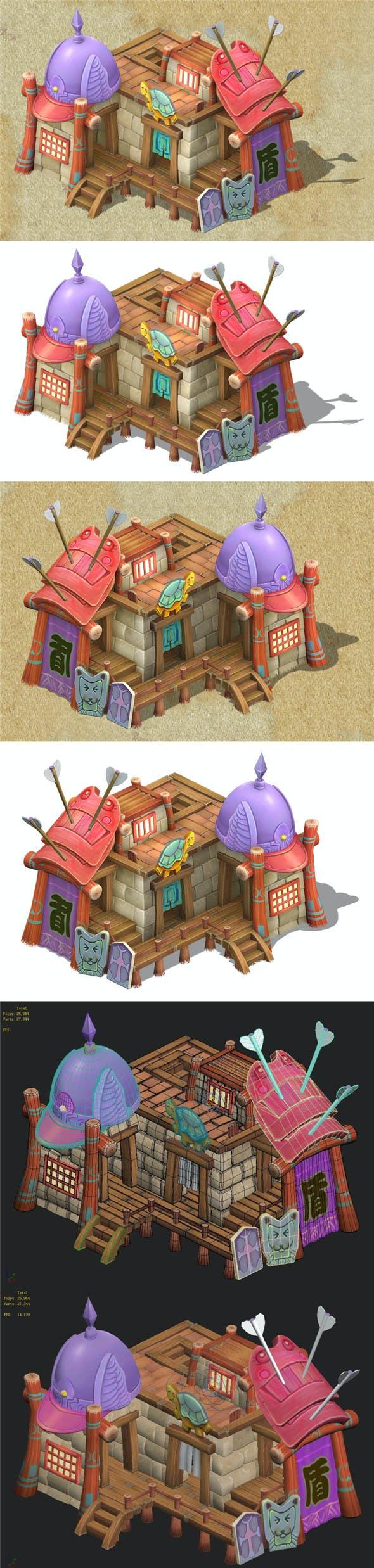 Cartoon Edition - Armor Shop 03 - 3DOcean Item for Sale