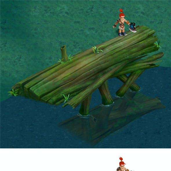 Cartoon Edition - Ancient Trees Bridge