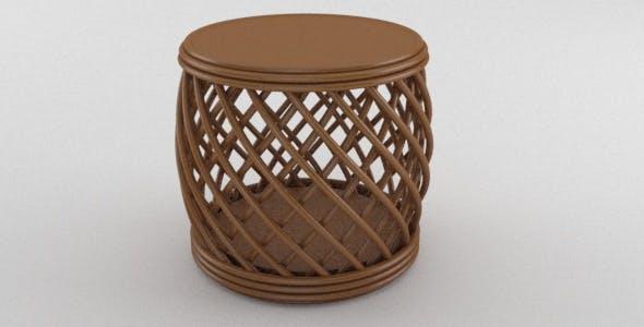Wooden Tiki Paradise Beach Chair - 3DOcean Item for Sale