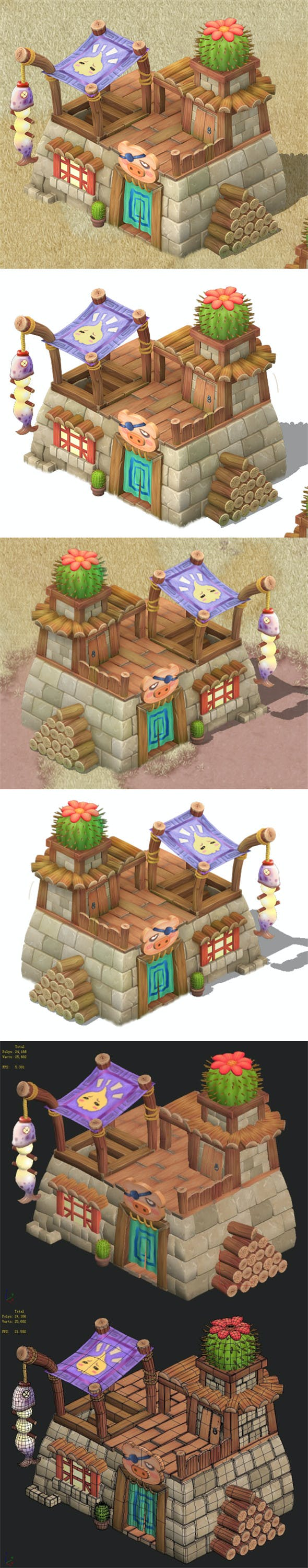 Cartoon version - residential 0103 - 3DOcean Item for Sale