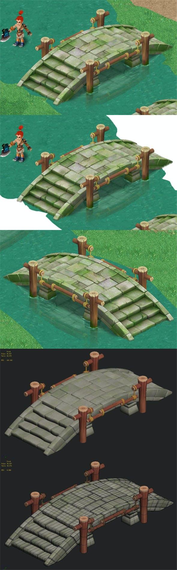 Cartoon version - stone bridge 011 - 3DOcean Item for Sale