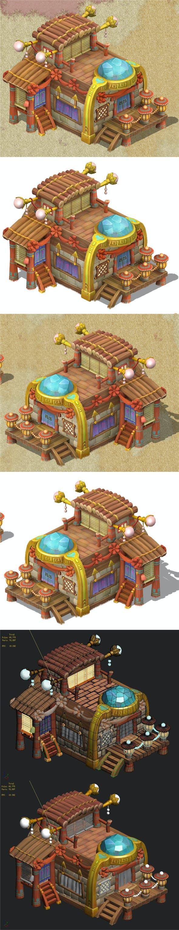 Cartoon version - jewelry shop 03 - 3DOcean Item for Sale